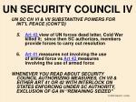 un security council iv
