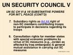 un security council v