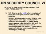 un security council vi