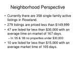 neighborhood perspective