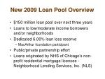 new 2009 loan pool overview