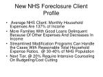 new nhs foreclosure client profile