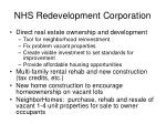 nhs redevelopment corporation