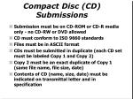 compact disc cd submissions1