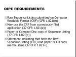 oipe requirements