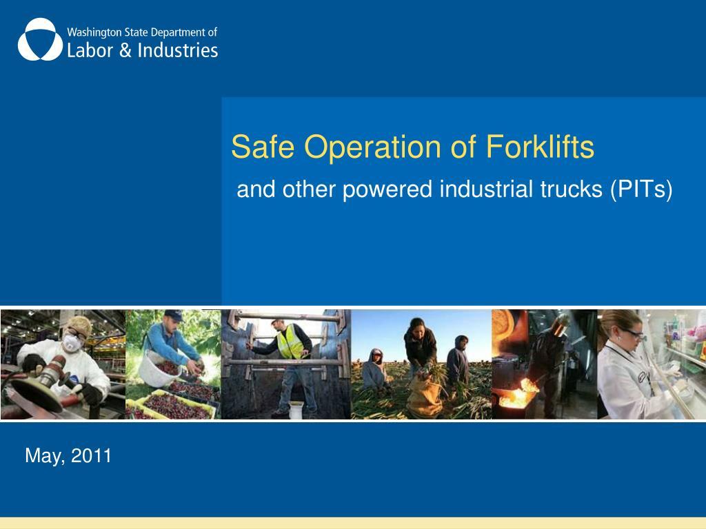 safe operation of forklifts l.