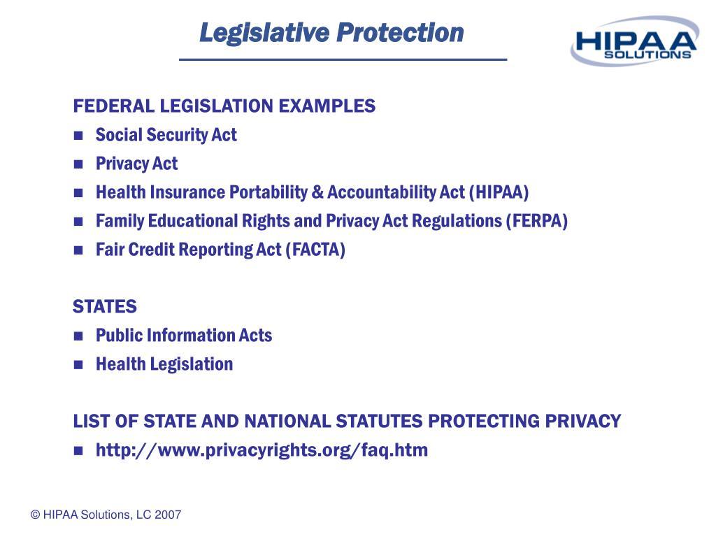 Legislative Protection