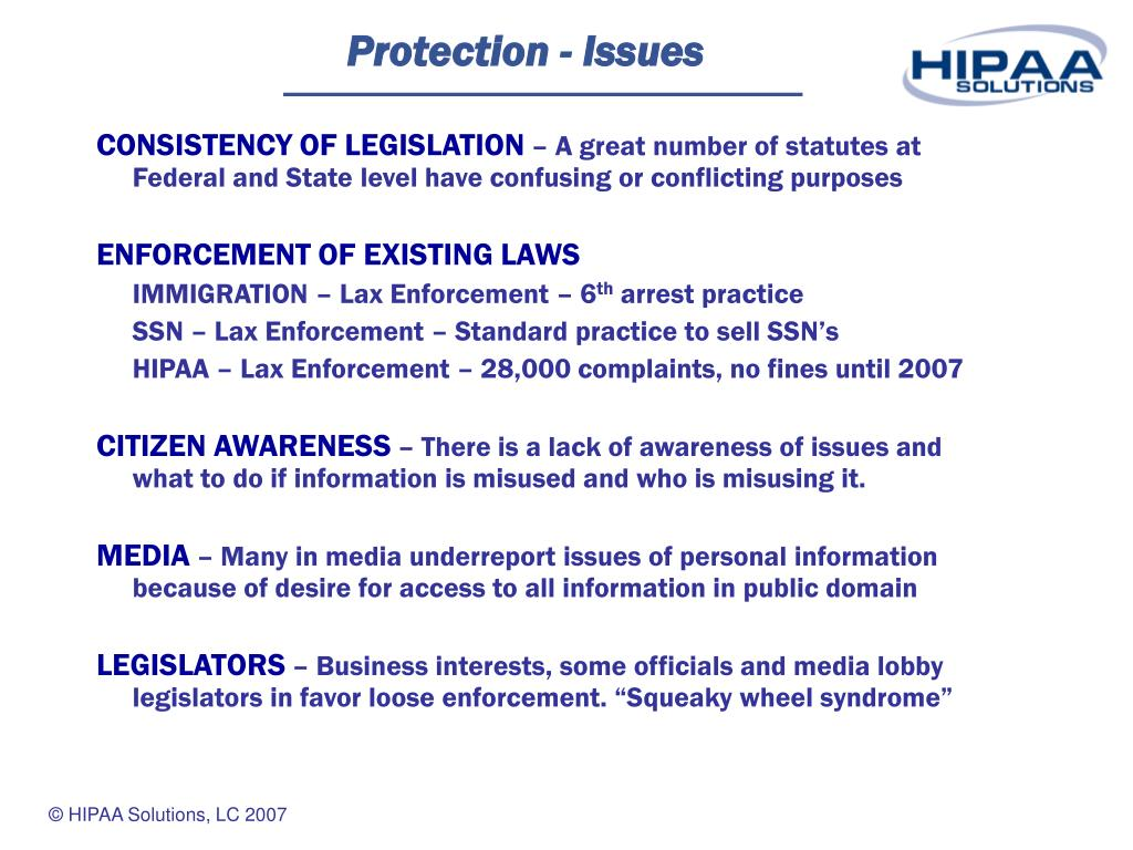 Protection - Issues
