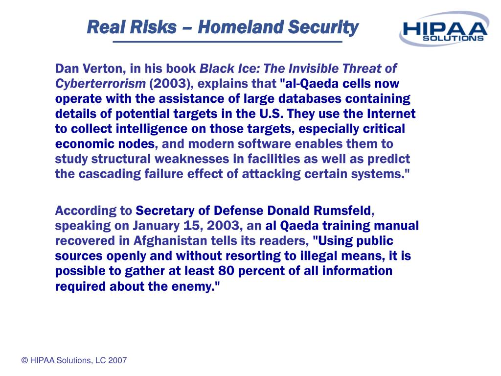 Real Risks – Homeland Security