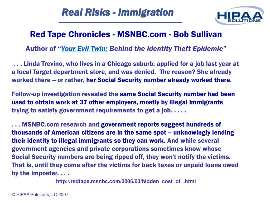 Real Risks - Immigration