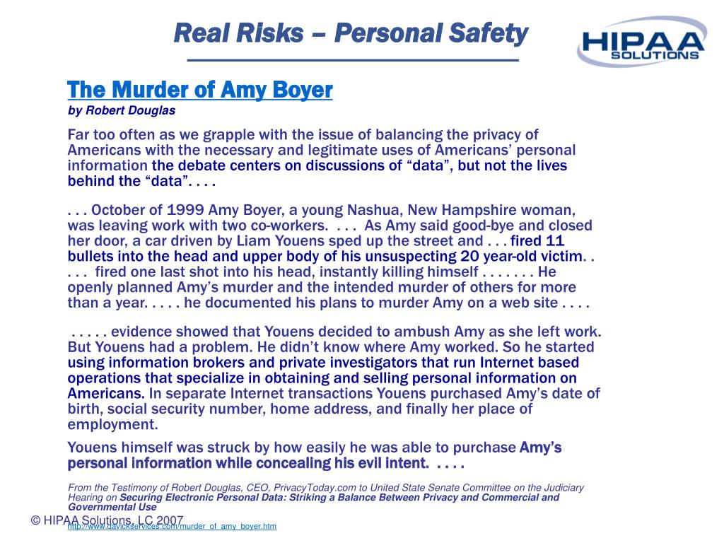 Real Risks – Personal Safety