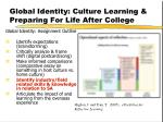 global identity culture learning preparing for life after college