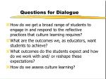 questions for dialogue
