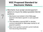 w3c proposed standard for electronic wallets33