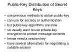 public key distribution of secret keys