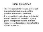 client outcomes