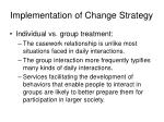 implementation of change strategy