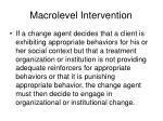 macrolevel intervention