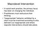 macrolevel intervention46