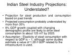 indian steel industry projections understated