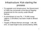 infrastructure kick starting the process