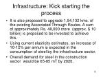 infrastructure kick starting the process13