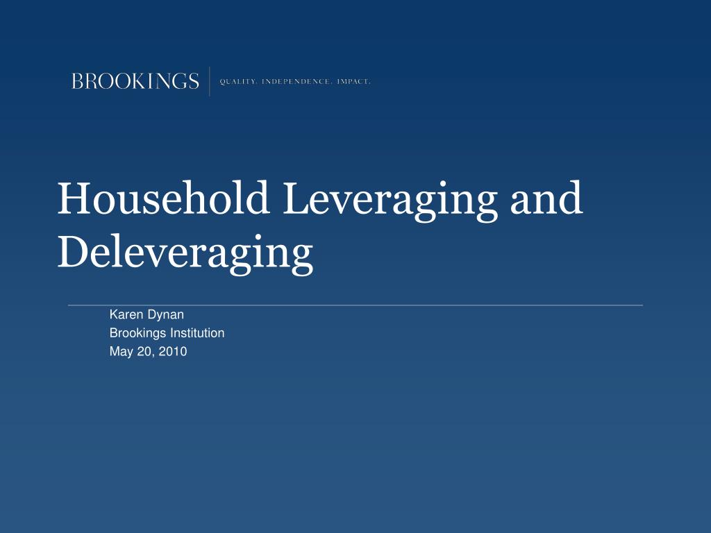 household leveraging and deleveraging l.