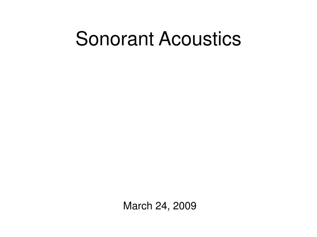 sonorant acoustics l.