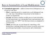 keys to sustainability of loan modifications