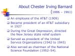 about chester irving barnard 1886 19613