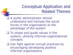 conceptual application and related themes