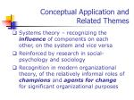 conceptual application and related themes20