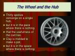 the wheel and the hub