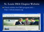 st louis ima chapter website