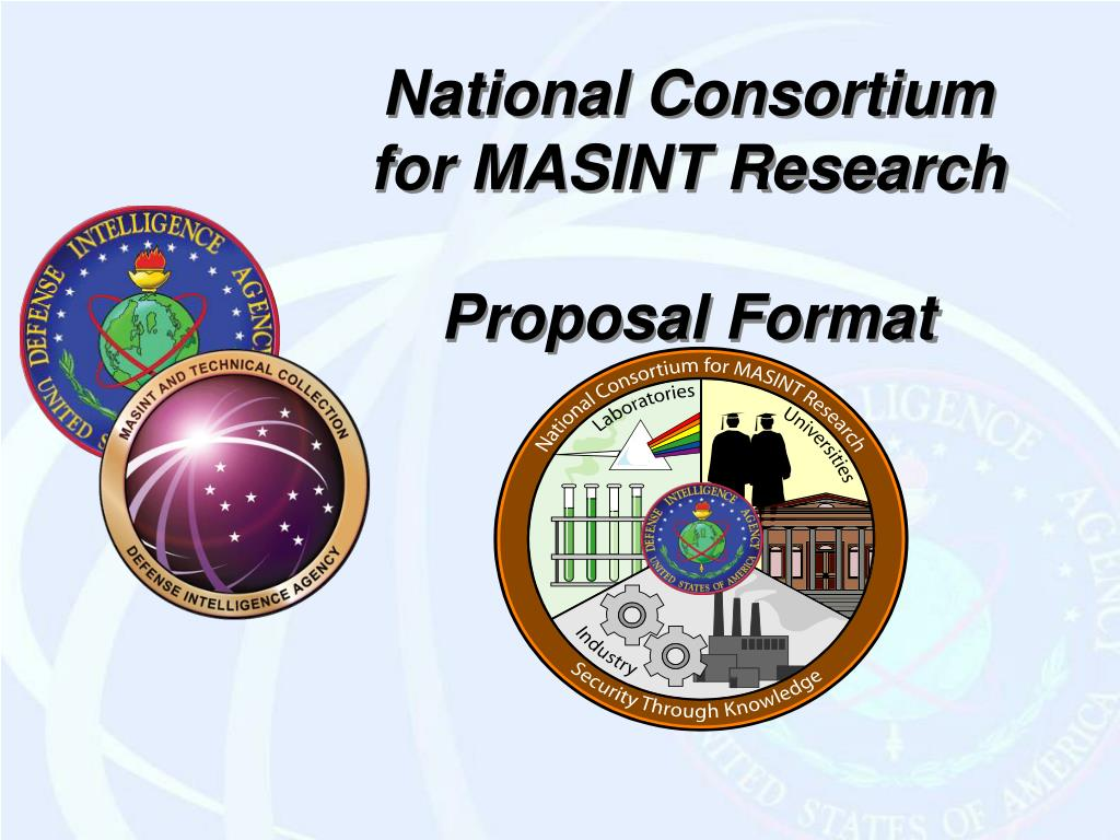 national consortium for masint research proposal format l.