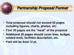 partnership proposal format
