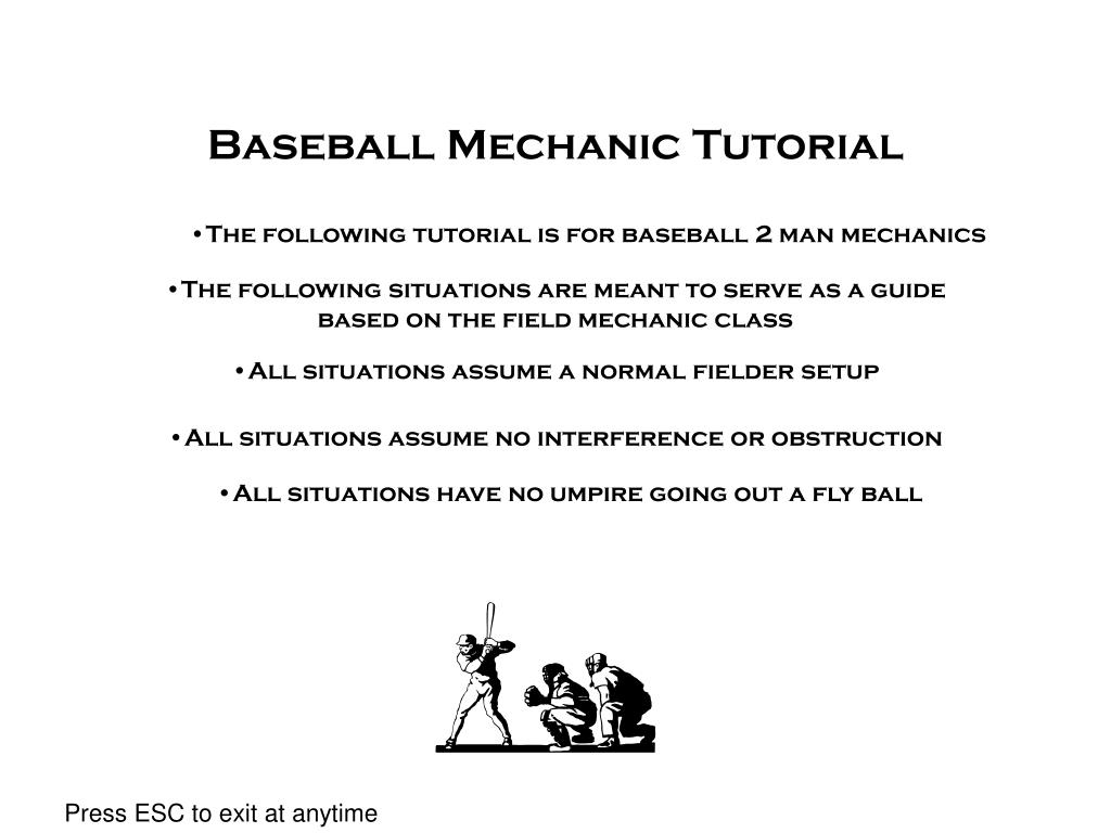 baseball mechanic tutorial l.