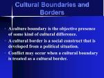 cultural boundaries and borders