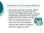 questions for discussion starters