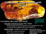 correlation of rock layers with fossils