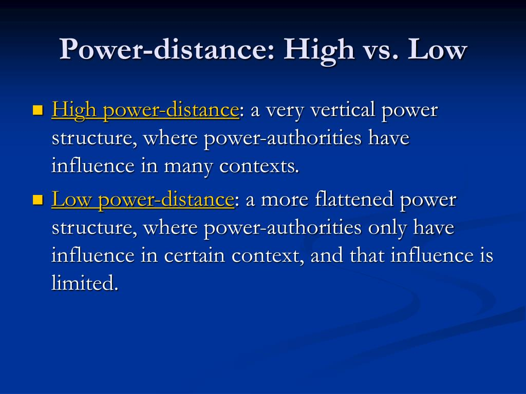 Power-distance: High vs. Low