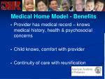 medical home model benefits