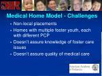 medical home model challenges