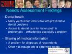 needs assessment findings