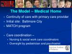 the model medical home