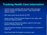 tracking health care information