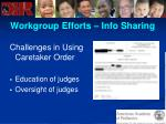 workgroup efforts info sharing67