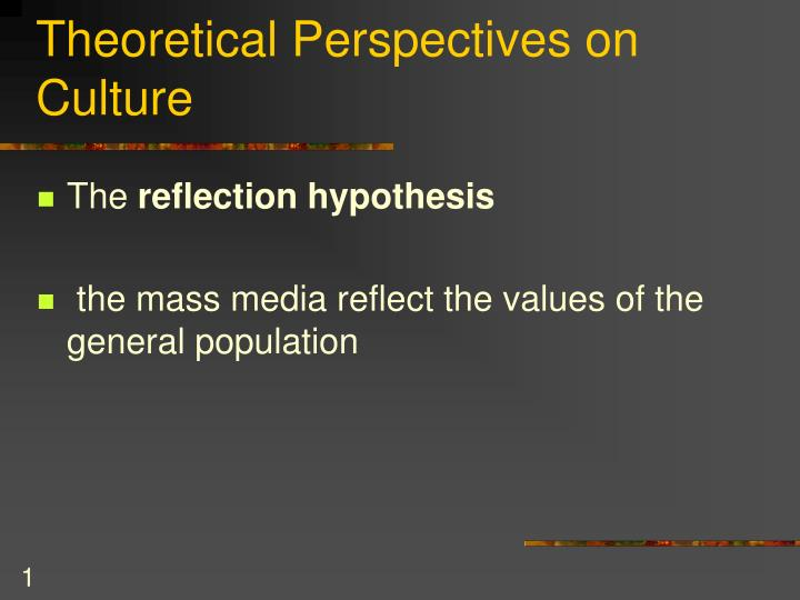 theoretical perspectives on culture n.
