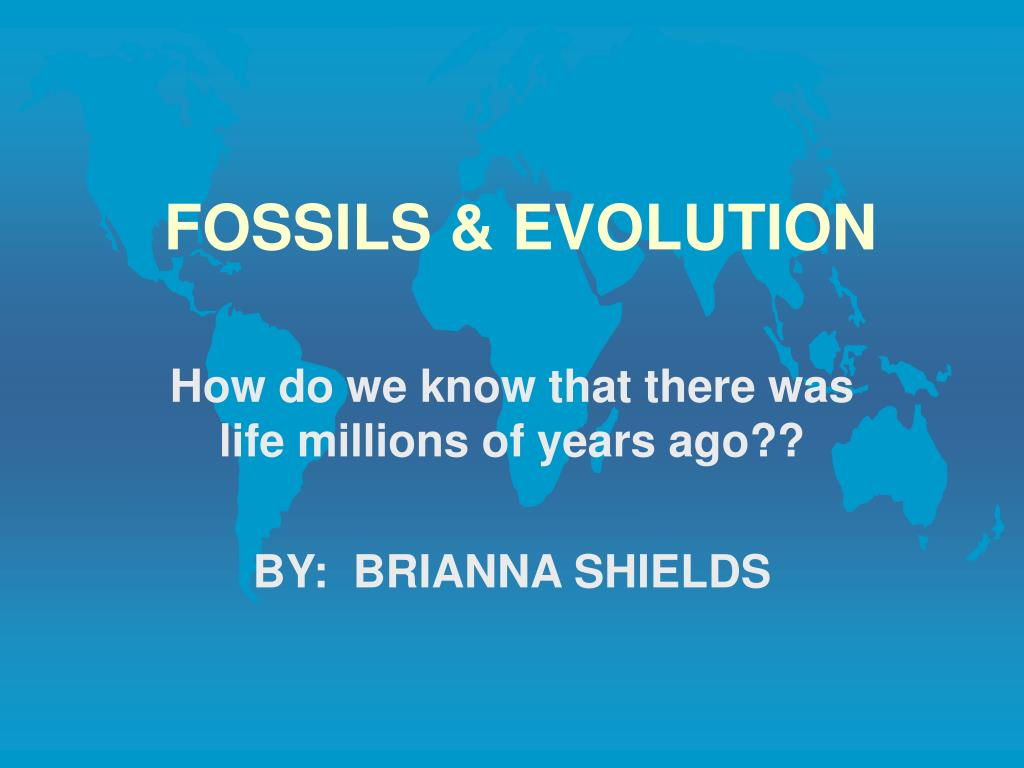 fossils evolution l.