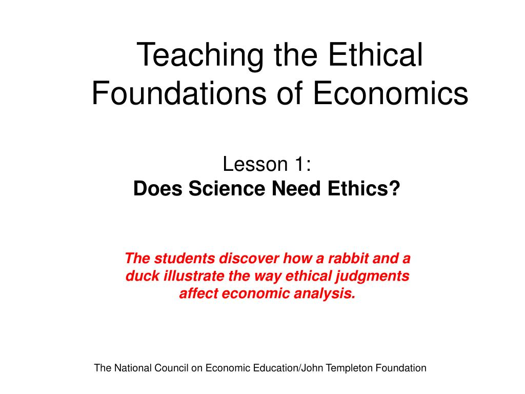 teaching the ethical foundations of economics l.